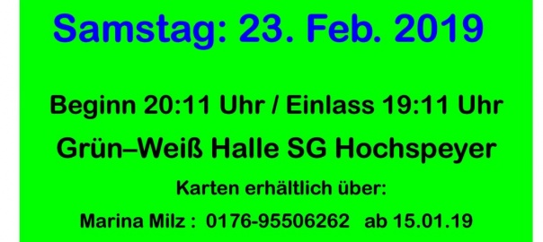 VCH-Fastnacht 2019 Plakat V4