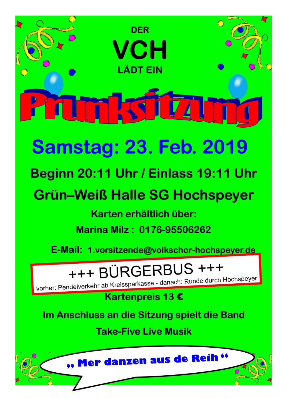 Prunksitzung 23.02. 20:11 - Grün-Weiss Halle