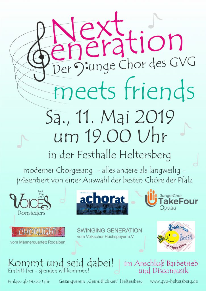 Plakat Next Generation - meets friends (GV Heltersberg)